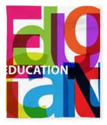 Creative Title - Education Fleece Blanket