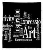 Creativity Art Inspiration Fleece Blanket