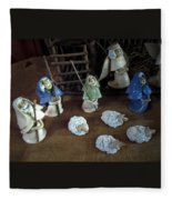 Creche Shepards And Sheep Fleece Blanket