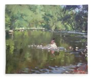 Credit River By Norval On Fleece Blanket