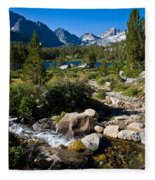 Creek At Heart Lake Fleece Blanket