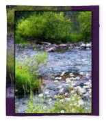 Creek Daisys Fleece Blanket