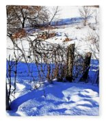 Creek Fenceline Fleece Blanket