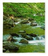 Creek In Great Smoky Mountains National Fleece Blanket