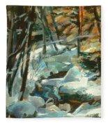 Creek In The Cold Fleece Blanket