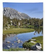 Creek With A View Fleece Blanket