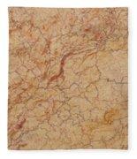 Crema Valencia Granite Fleece Blanket