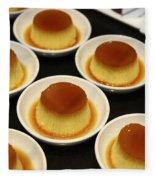 Creme Caramel Dessert Fleece Blanket