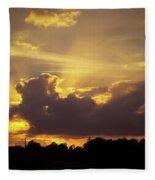 Crepuscular Rays Of Sunlight Fleece Blanket