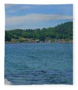 Crescent Beach Center Panoramic Fleece Blanket