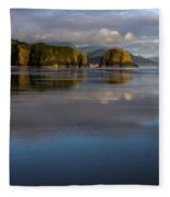 Crescent Beach Reflections Fleece Blanket