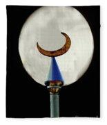 Crescent Full Moon Fleece Blanket