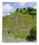 Cressbrook Dale Opposite To Tansley Dale Fleece Blanket