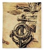 Crest Of Oceanic Adventure Fleece Blanket