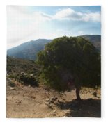Crete Inland View Fleece Blanket