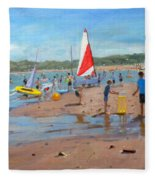 Cricket And Red And White Sail Fleece Blanket