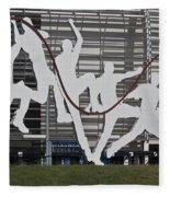 Cricket Art Sculpture Southampton Fleece Blanket