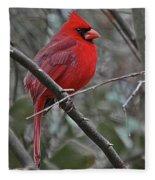 Crimson Cardinal Fleece Blanket