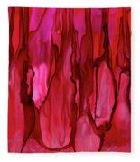 Crimson Forest Fleece Blanket