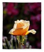 Crimson Gold Lavender Fleece Blanket
