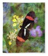 Crimson Longwing Butterfly 8231 Idp_2 Fleece Blanket