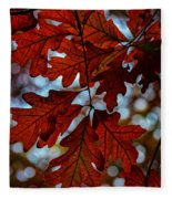 Crimson Oak Fleece Blanket
