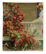 Crimson Rambler Fleece Blanket