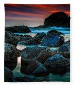 Crimson Skies Fleece Blanket