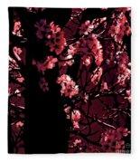 Crimson Fleece Blanket
