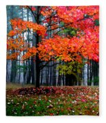 Crimson Tree Fleece Blanket