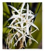 Crinum Spiderlily Flower Fleece Blanket