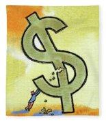 Crisis And Money Fleece Blanket