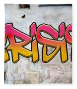 Crisis As Graffiti On A Wall  Fleece Blanket