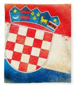 Croatia Flag Fleece Blanket