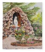 Crockett California Saint Rose Of Lima Church Grotto Fleece Blanket