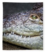 Crocodile Eye Fleece Blanket