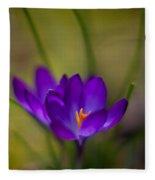 Crocus Petals Fleece Blanket