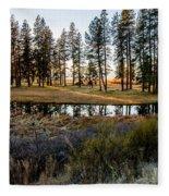 Crooked Creek Sunset Fleece Blanket