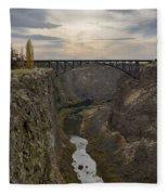 Crooked River Fleece Blanket