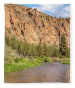 Crooked River II Fleece Blanket