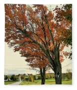 Crooked Tree Fleece Blanket