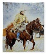 Cropped Ranch Rider Fleece Blanket