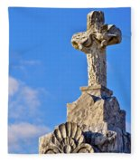 Cross 1-greenwood Cemetary Fleece Blanket