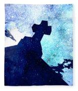 Blue Cross Fleece Blanket