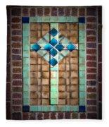 Cross On The Wall Fleece Blanket