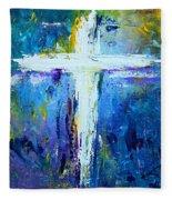 Cross - Painting #4 Fleece Blanket