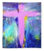 Cross - Painting #5 Fleece Blanket