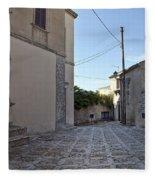 Cross Road In Sicily Fleece Blanket