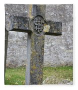 Cross Tombstone St. Mary's Wedmore Fleece Blanket