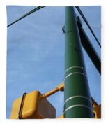 Cross Walk Pole Fleece Blanket